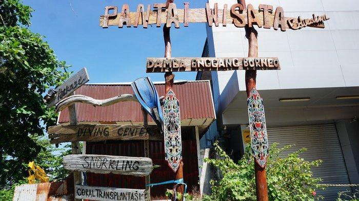 Pantai Wisata Damba Enggang Borneo Balikpapan, Kalimantan Timur.