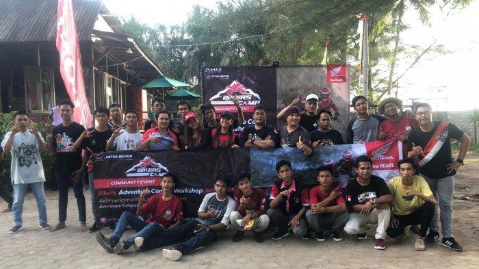 Astra Motor Balikpapan Ajak Puluhan Bikers  Berkemah dan  Workshop Jurnalistik di Pantai Lamaru