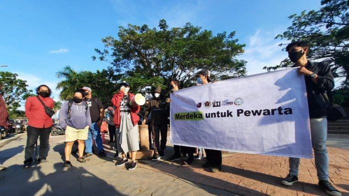 Peringati Hari Kebebasan Pers Sedunia, Wartawan Samarinda Suarakan Stop Kekerasan pada Pers