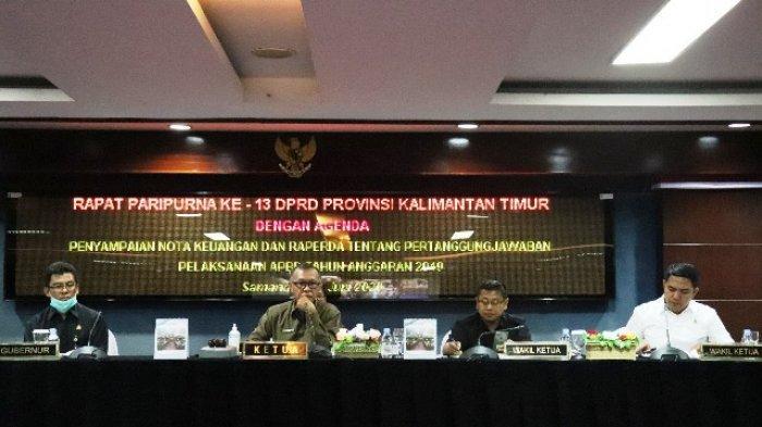 Pemprov Kaltim Sampaikan Pelaksanaan APBD 2019, Fraksi-fraksi Akan Segera Memberi Tanggapan