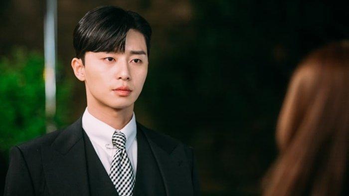 Aktor Park Seo Jun dalam salah satu adegan drama Korea.