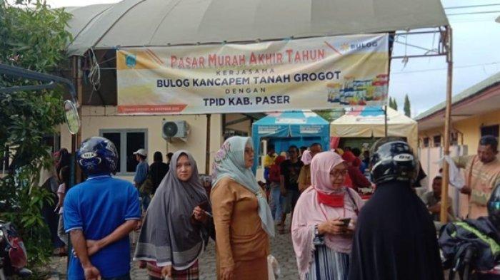 Hari Terakhir Pasar Murah Perum Bulog dan TPID Paser Dibanjiri Warga di 10 Kecamatan