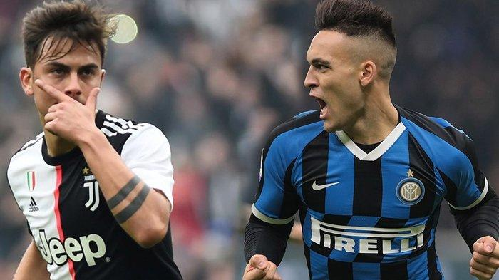LIVE STREAMING Juventus vs Inter Milan Siaran Langsung RCTI, Dybala Cadangan, Lautaro Martinez Main