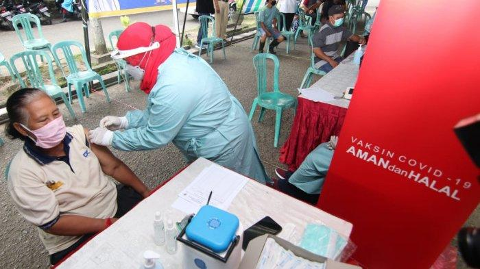 Pengakuan Pedagang Pasar Klandasan Usai Disuntik Vaksinasi Covid-19, Merasa tak Lagi Was-was