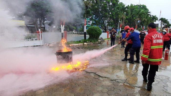 Berkaca Peristiwa Kebakaran Lapas Tangerang, Rutan Samarinda Simulasi Pemadaman Api