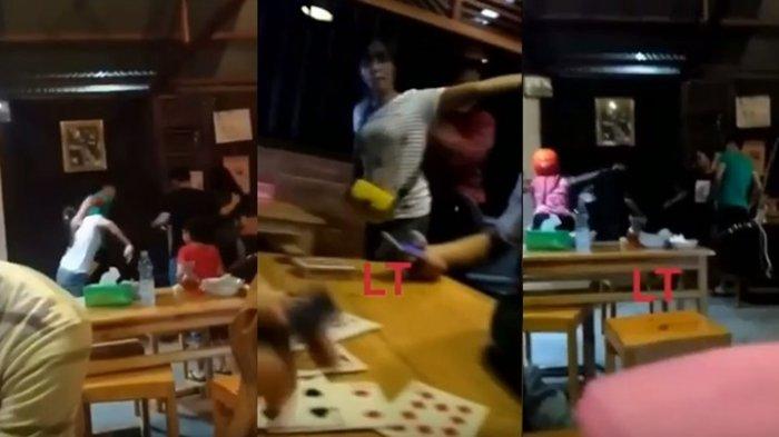 Heboh, Istri Sah Pergoki Suami Bersama Pelakor hingga Jambak-jambakan Brutal di Kafe Sangatta