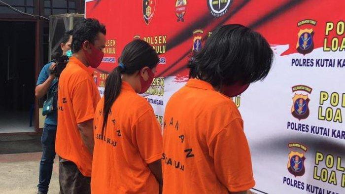 Pasutri dari Samarinda Ditangkap Polsek Loa Kulu Kukar, Istri Simpan Sabu di Pakaian Dalam