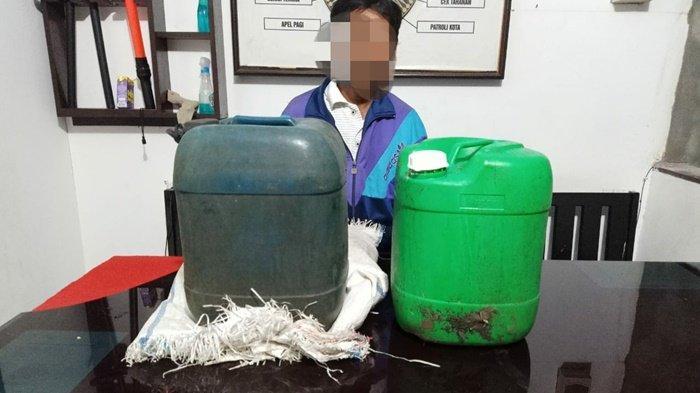 Jual Miras Tanpa Izin, Petani di Talisayan Ditangkap Polisi, Polres Berau Amankan 30 Liter Tuak