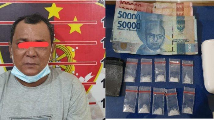 Gerebek Gubuk Penumpukan Pasir di Samarinda, Polisi Bekuk Pengedar Narkoba dan Temukan 9 Poket Sabu