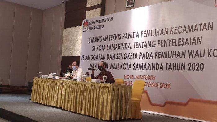 KPU Gandeng Kejari Samarinda, Beri Materi Bimtek ke PPK Soal Penyelesaian Sengketa Pilkada 2020