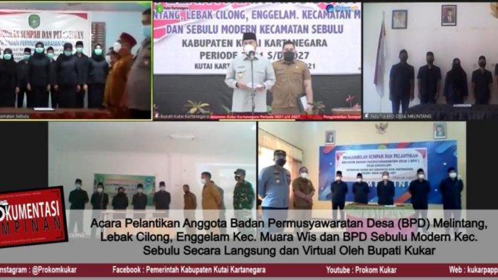 Lantik Anggota BPD, Bupati Kukar Minta Desa Jalankan Testing & Tracing untuk Tekan Covid-19