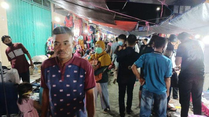 Pasar Malam THM Tarakan Padat, Pengunjung Banyak Abaikan Protokol Kesehatan
