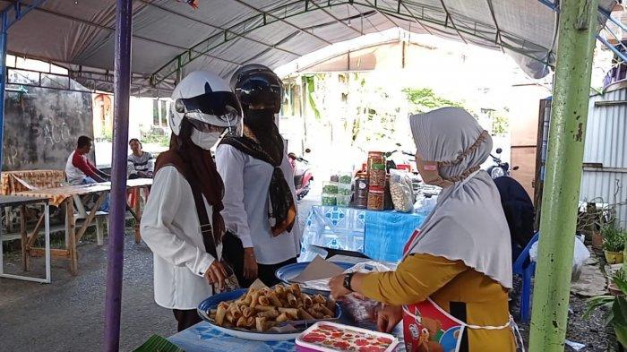 Pasar Ramadhan Nunukan Sepi Pengunjung, Omzet Lumpia Goreng Kari Turun Signifikan