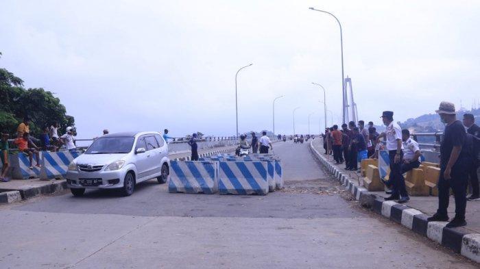 Jembatan Achmad Amins Pasca Dibuka, LPJU Jalur Alternatif di Jalan Lingkar Stadion Tetap Digarap