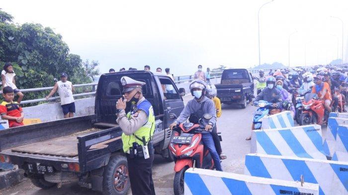 Satlantas Polresta Samarinda akan Pasang Spanduk Cegah Kendaraan Berat Melintasi Jembatan