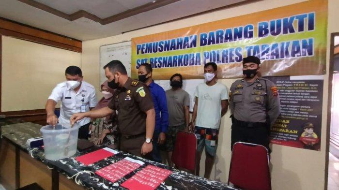 Diamankan di Hotel Jalan Kusuma Bangsa Tarakan, Ini Kronologi Penangkapan 3 Pemilik Sabu 91,32 Gram