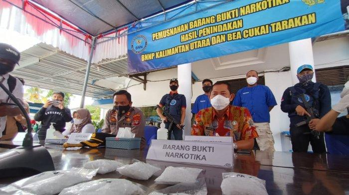 BNNP Kaltara Musnahkan 332 Gram Sabu, Rencananya akan Diedarkan di Tarakan dan Palu
