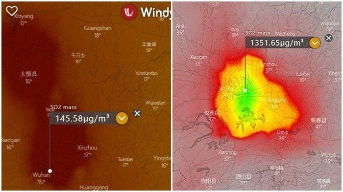 PENAMPAKAN Foto Satelit Kota Wuhan di China Imbas Virus Corona, Ilmuwan Beber Dampak Kremasi Mayat