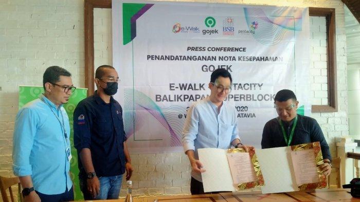 e-Walk Pentacity BSB Dan Gojek Jalin Kerja Sama Untuk Tingkatkan Roda Ekonomi