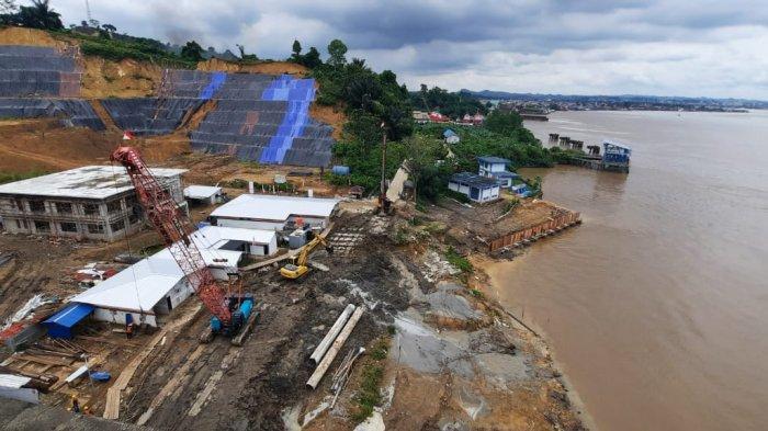 Abrasi di Bawah Jembatan Achmad Amins dan Pembangunan IPA Kalhol Ditangani Bersamaan
