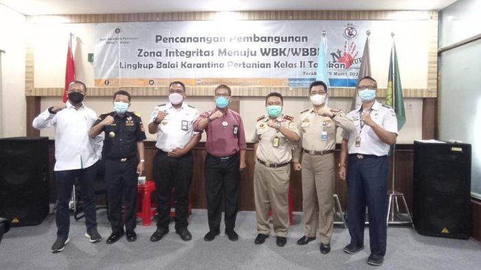 Balai Karantina Pertanian Kelas II Tarakan Canangkan Zona Integritas Menuju WBK dan WBBM