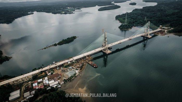 Dibangun Sejak 2015, Jembatan Pulau Balang yang Telan Anggaran Rp 1,38 T Akhirnya Tersambung