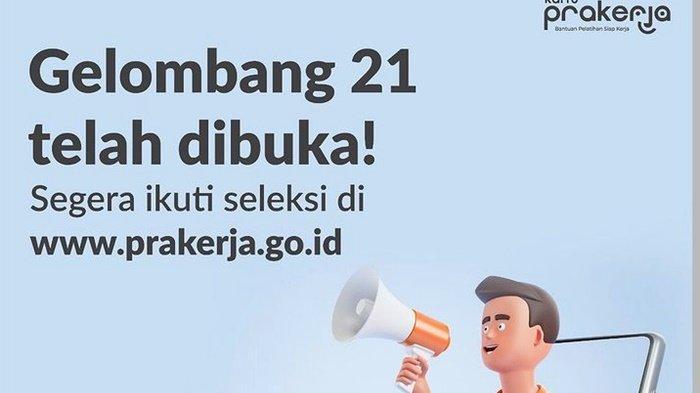 LENGKAP LINK & CARA Daftar Kartu Prakerja 2021 Lewat HP, Syarat saat Login prakerja.go.id/Dashboard