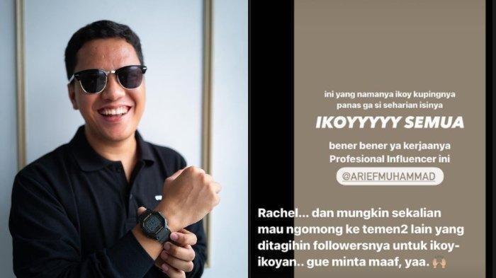 Disindir Rachel Vennya Gara-gara Cetuskan Ikoy-ikoyan, Arief Muhammad Sampai Minta Maaf