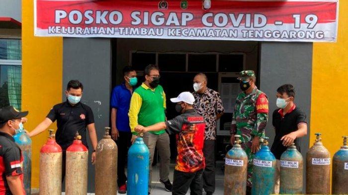 Camat Tenggarong Distribusikan Tabung Oksigen untuk Warga Isoman, Sebut Swadaya Masyarakat