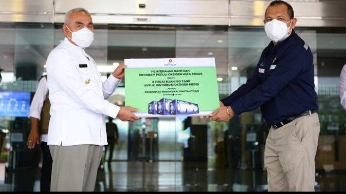 SKK Migas Serahkan 60 Ton Oksigen Medis ke Pemprov Kaltim, Bantu RS yang Merawat Pasien Covid-19