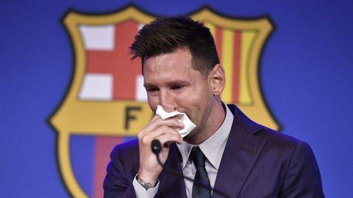 Lionel Messi tak Kuasa Tahan Tangis, Ucapkan Perpisahan Selamat Tinggal dengan Barcelona