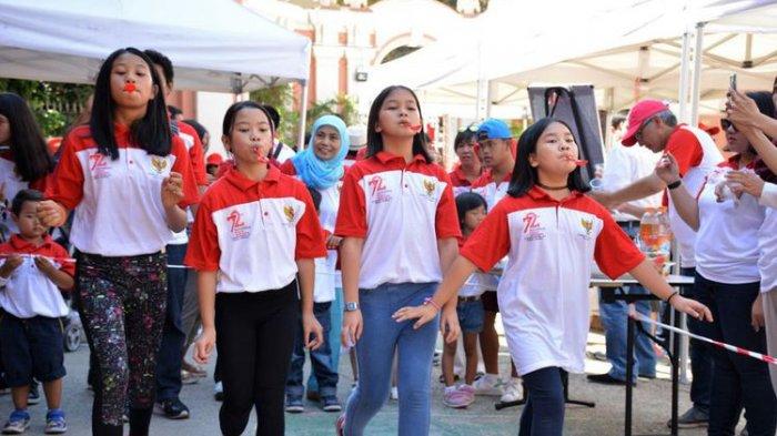 Warga Indonesia Rayakan HUT ke 72 RI di Kota Roma