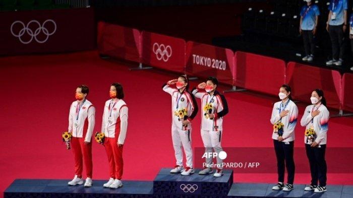 Perjuangan GreyAp Raih Medali Emas, Raket Jia Yi Fan Patah hingga Adu Teriak, Greysia: Untuk Kalian