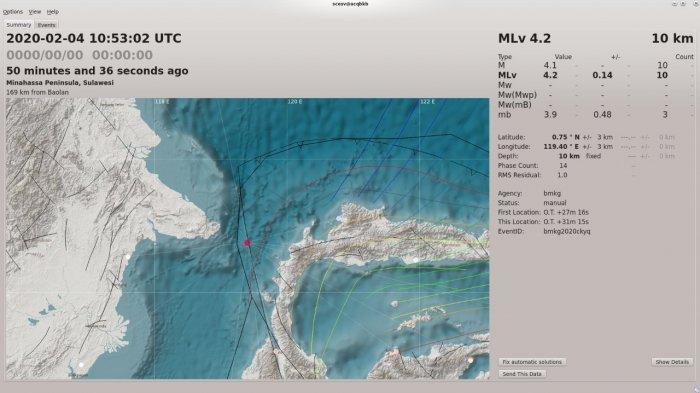 Gempa 4,2 SR di Perairan Bontang, Begini Penjelasan BMKG