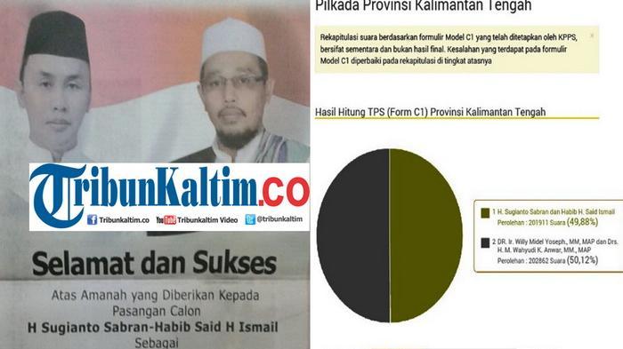 Sugianto-Habib Unggul pada Pilkada Kalteng, Parpol Pendukung Masing-masing Kubu Saling Klaim