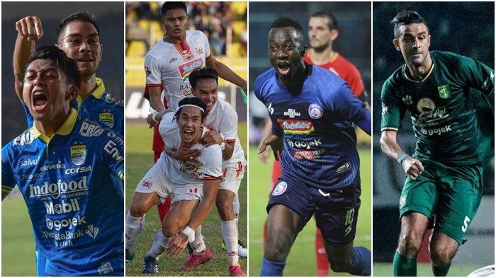 Update Klasemen Liga 1 2019, Jelang Persib vs Arema FC, Persebaya Intip 10 Besar, Persija Merangkak