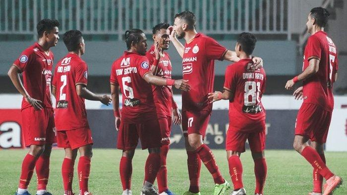 Penggawa Persija Jakarta usai laga di pekan ke-4 BRI Liga 1 2021, kontra Persela Lamongan.