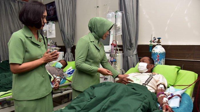 HUT ke-74 Persit KCK, Para Istri Prajurit TNI Donor Darah dan Simak Ceramah Pencegahan Virus Corona