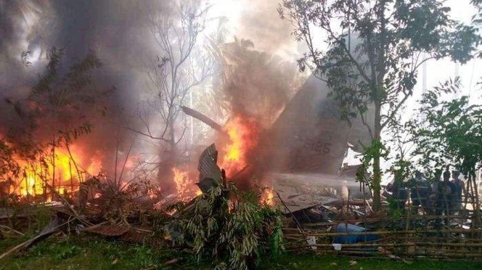 UPDATE Pesawat Hercules Jatuh di Filipina: 29 Tentara Tewas dan 50 Penumpang Berhasil Diselamatkan