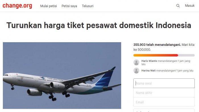 356 000 Orang Dukung Petisi Turunkan Harga Tiket Pesawat Kini Berembus Kabar Baik Halaman All Tribun Kaltim
