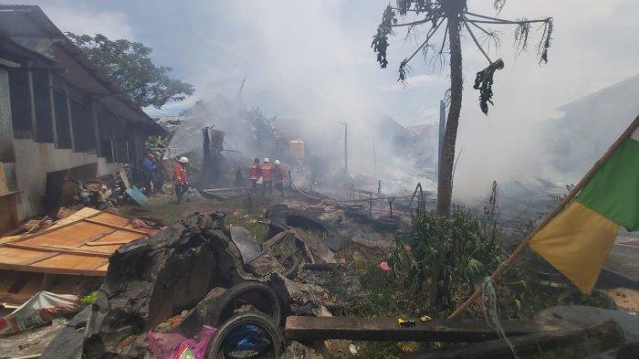 BREAKING NEWS Kebakaran di Kawasan Perusda Balikpapan Selatan, 1 Bangunan Dilalap Api