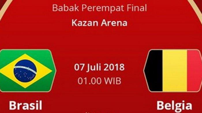BIG MATCH - Prediksi Skor Brasil vs Belgia Pukul 01.00 WIB, Begini Cara Live Streaming