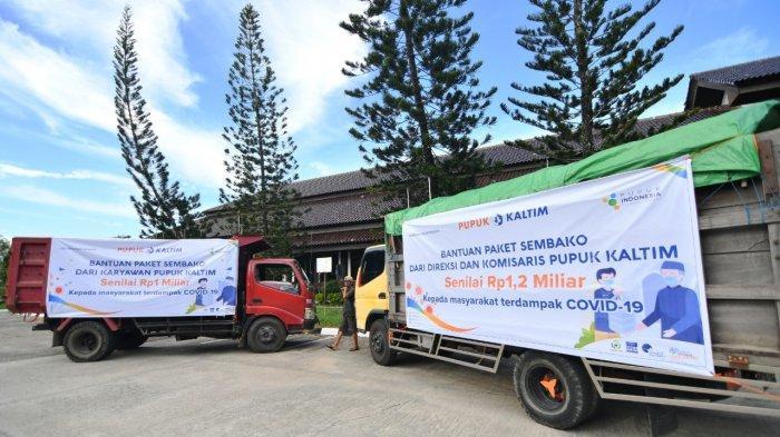 Pupuk Kaltim Salurkan Donasi Rp2,2 Miliar untuk Sembako Warga Bontang Terdampak Covid-19