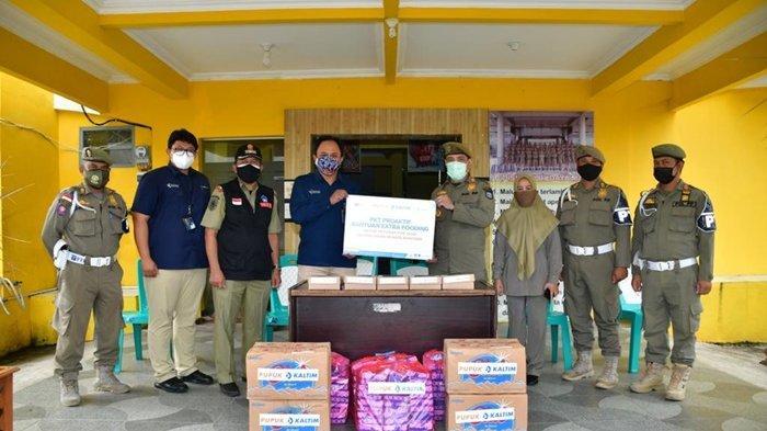 Dukung Petugas selama PPKM Darurat, PKT Salurkan Extra Fooding ke Satpol PP Bontang