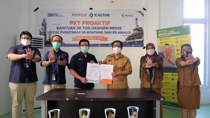 Antisipasi Kelangkaan, Pupuk Kaltim Salurkan 30 Ton Oksigen Medis untuk Pasien Covid-19 di Bontang