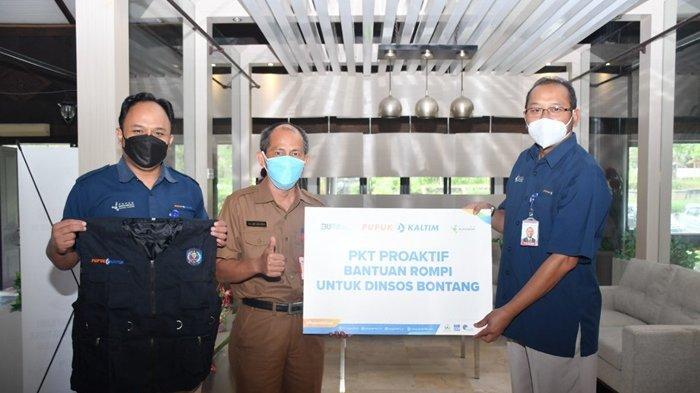 PKT Proaktif Salurkan Bantuan Rompi bagi Satgas Covid-19 Bontang