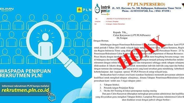 Waspada Penipuan Rekrutmen PLN UIW Kaltimra, Berikut Beberapa Tips untuk Mengidentifikasinya