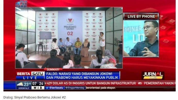 Supaya Ada Hero, Faldo Maldini Nilai Jokowi-Prabowo Tak Kunjung Ketemu Dibuat-buat Mirip Drama