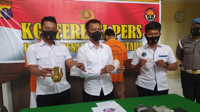 Honorer Dinas Sosial PPU Ditangkap, Polisi Temukan 21,35 Gram Sabu
