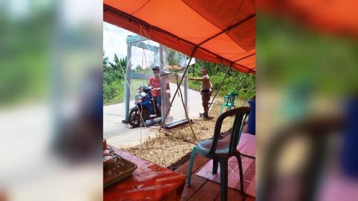 Cegah Penyebaran Covid-19, Satpol Bersama TNI Perketat Pengawasan di Pintu Masuk Mahulu